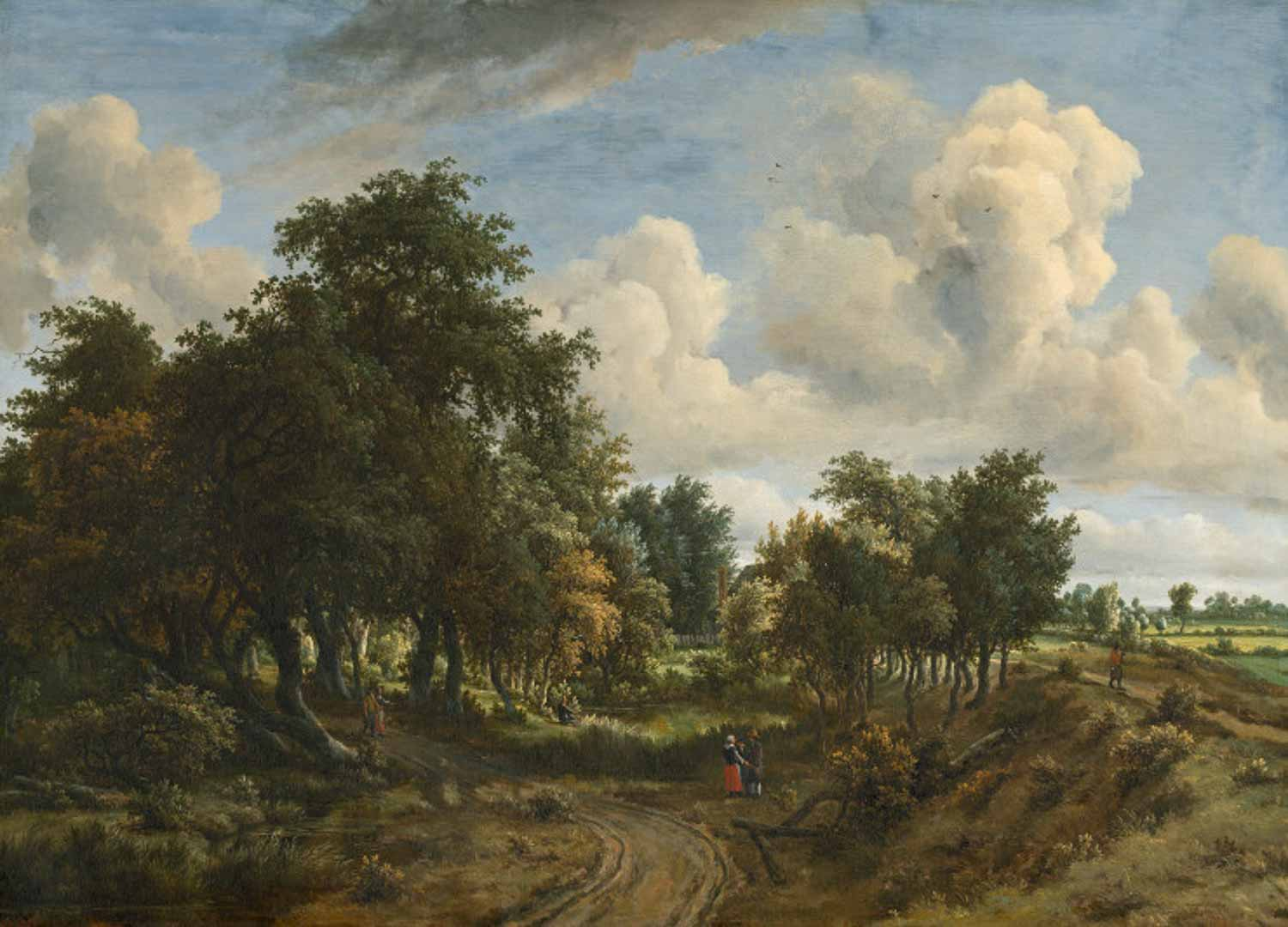 Meindert Hobbema, wooded landscape