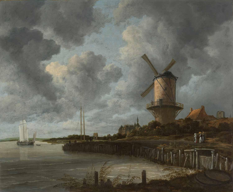 Jacob van Ruisdael, windmill by wijk bij duursted, rijksmuseum amsterdam