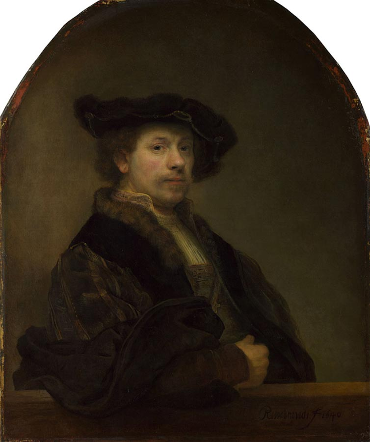 Rembrandt, self portrait at the age of 34, National Gallery London
