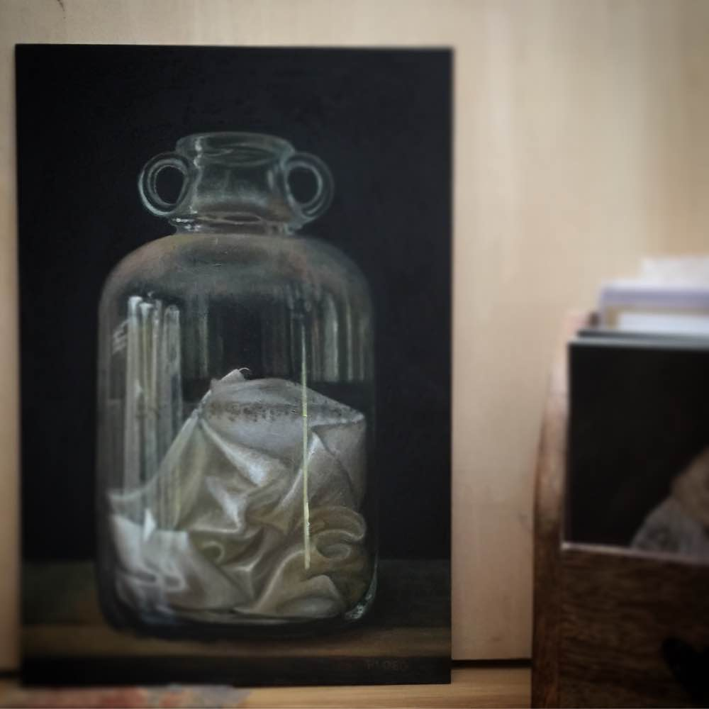 Sophie Ploeg Silk in Bottle, oil painting