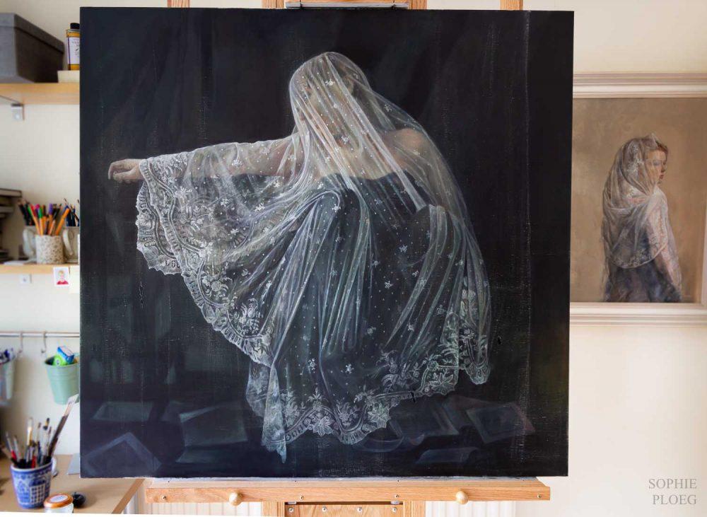 Sophie Ploeg, oil painting, Fallen Leaves