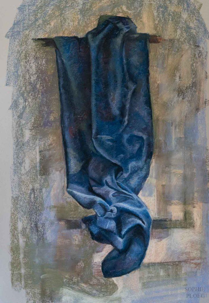 Sophie Ploeg Blue Velvet Pastel painting
